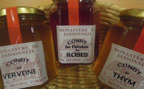 Grand choix de confits de plantes (prieuré du Jassonneix)