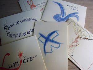 cartes calligraphiées du Carmel du Havre