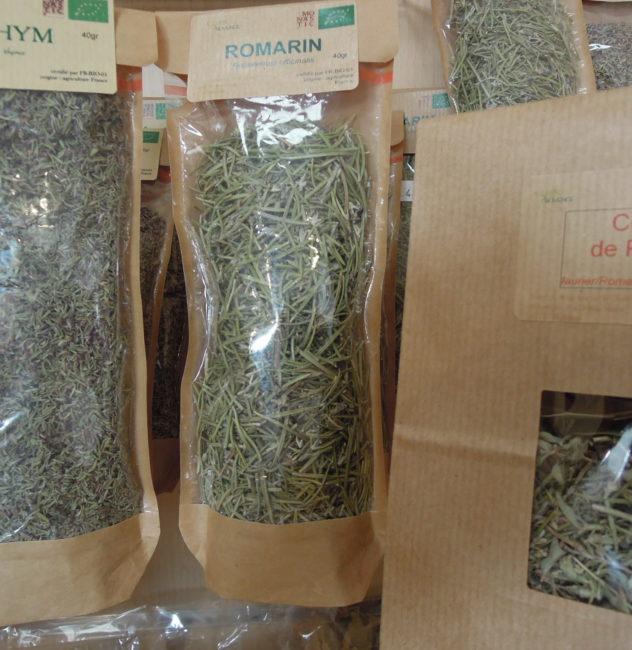 Herbes séchées 'Bio' par les dominicaines de Taulignan