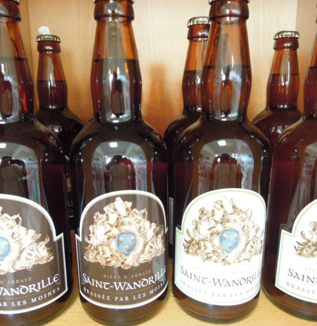 Bières blonde et brune de l'abbaye Saint-Wandrille